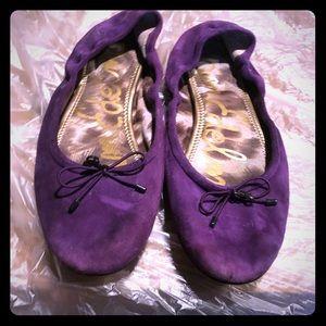 Fairly worn Sam Edelman suede purple shoes 9 1/2 m